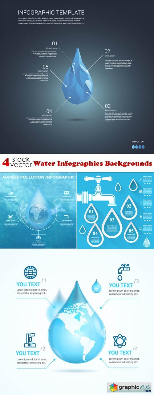 Water Infographics Backgrounds