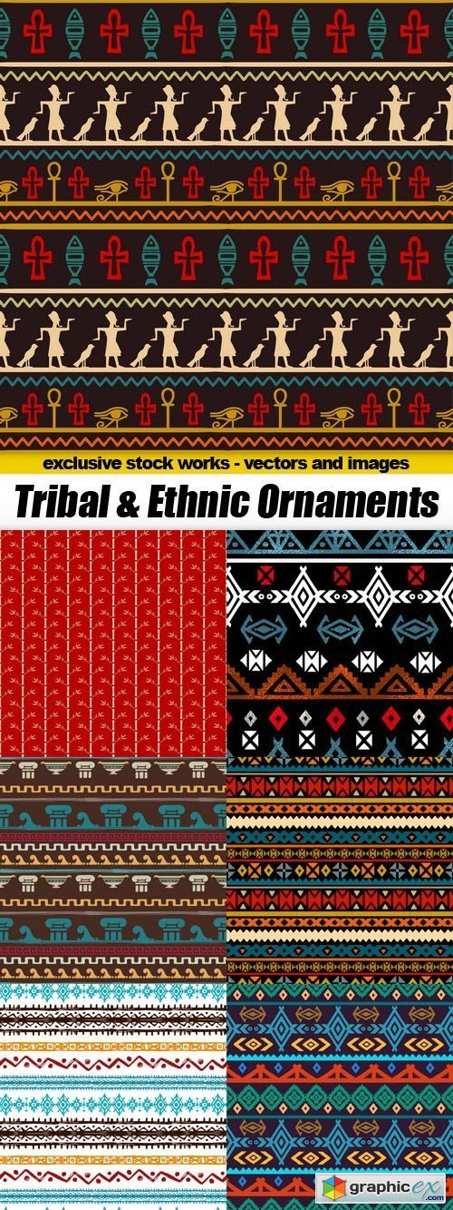 Tribal & Ethnic Ornaments - 15xEPS