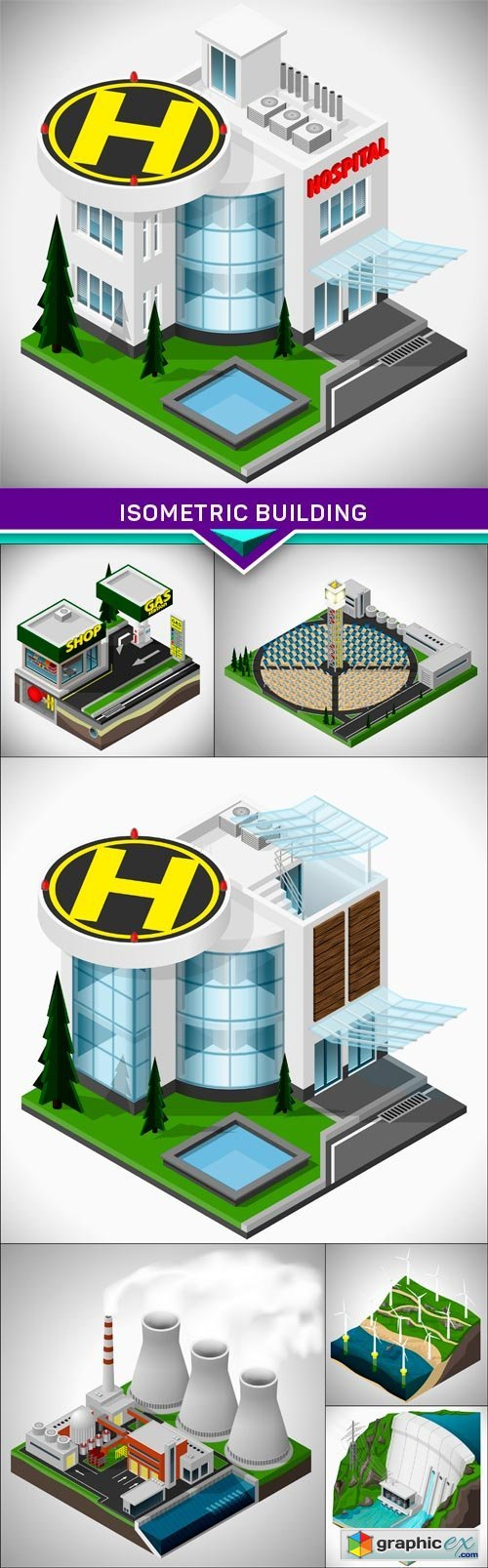 Isometric building 7X EPS