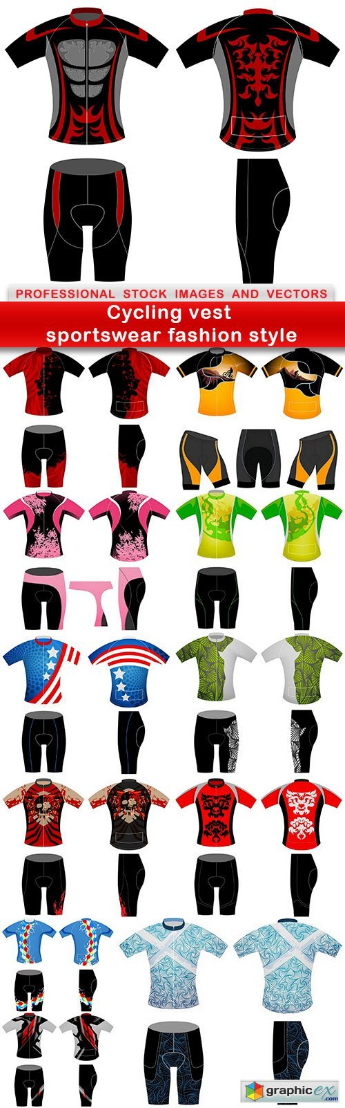 Cycling vest sportswear fashion style - 12 EPS