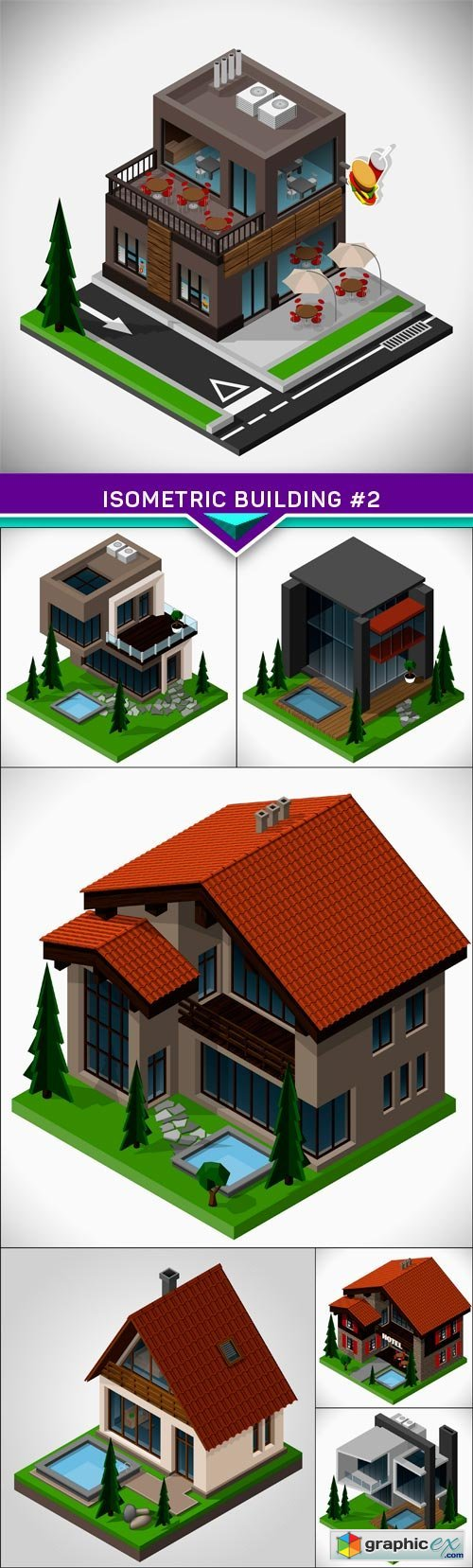 Isometric building #2 7X EPS