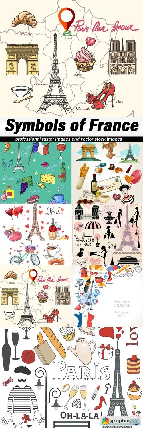 Symbols Of France Free Download Vector Stock Image Photoshop Icon