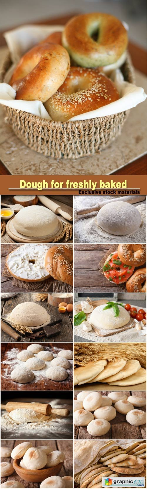 Dough for freshly baked pastries