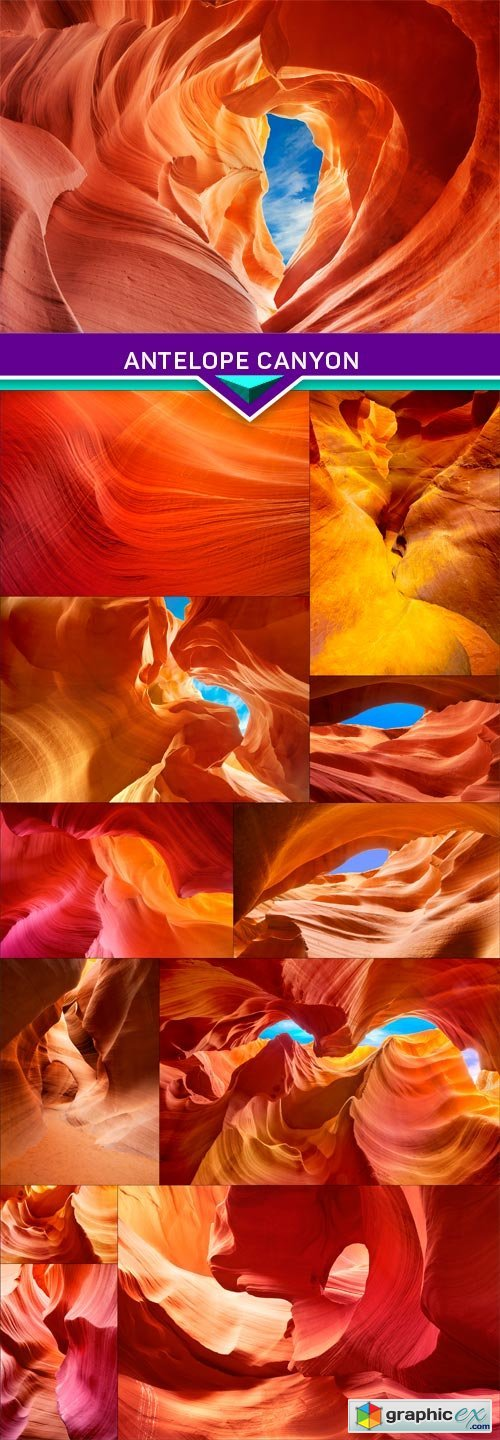 Color shades of the rock inside the antelope canyon 12X JPEG