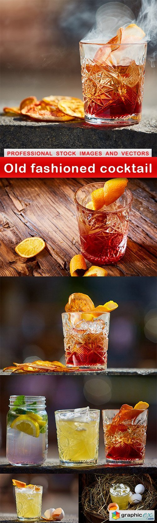 Old fashioned cocktail - 6 UHQ JPEG