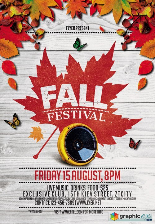 Fall Festival Vol 4 Flyer Template + Facebook Cover