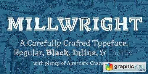 Millwright Font Family - 4 Fonts