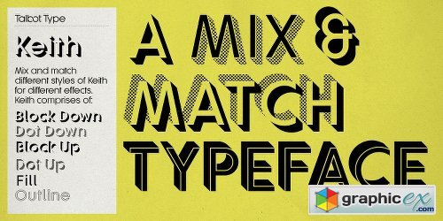 Keith Font Family - 6 Fonts