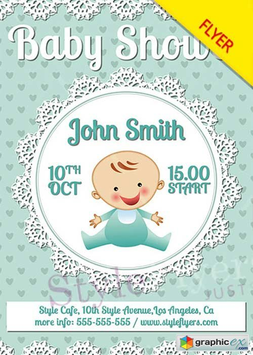 Baby Shower PSD V14 Flyer Template