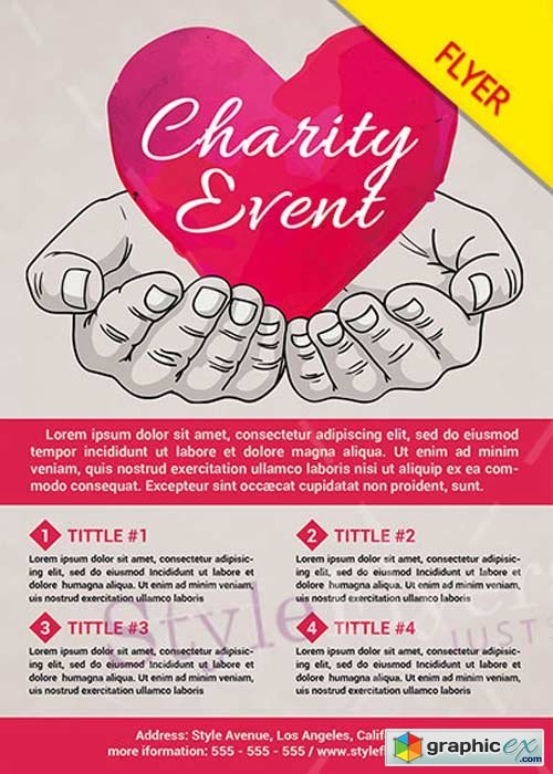 Charity Event PSD V12 Flyer Template