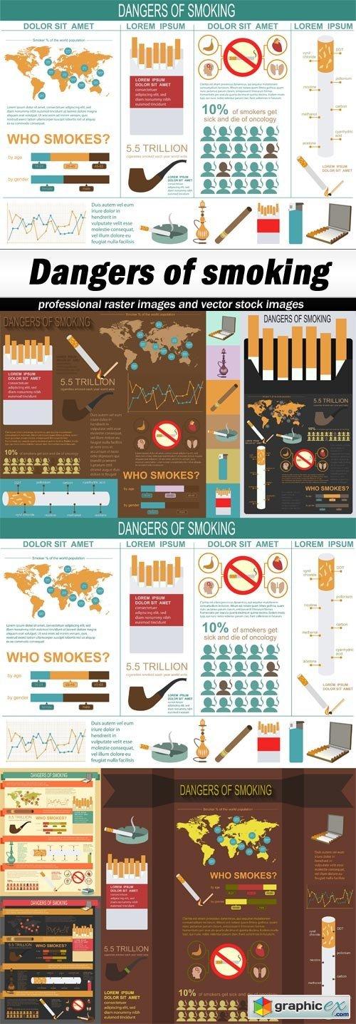Dangers of smoking - 6 EPS
