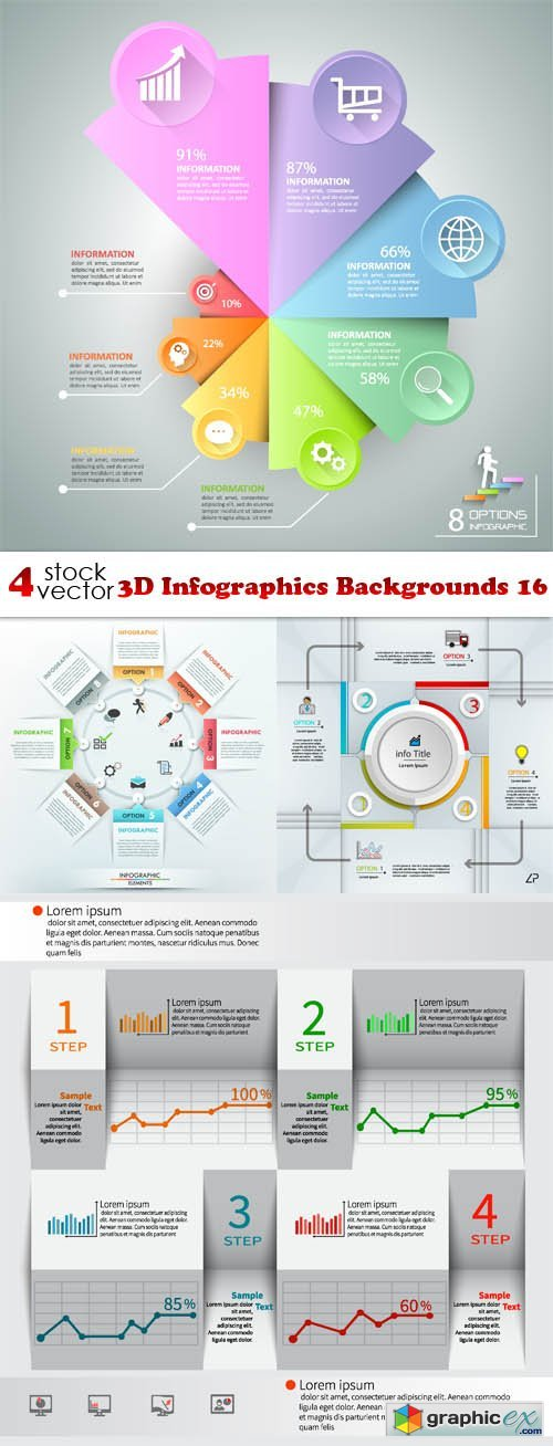 3D Infographics Backgrounds 16