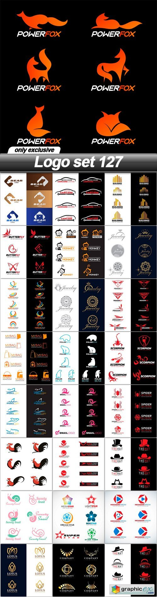 Logo set 127 - 25 EPS