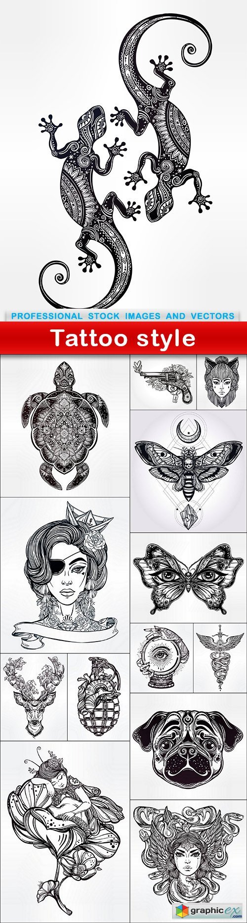 Tattoo style - 14 EPS