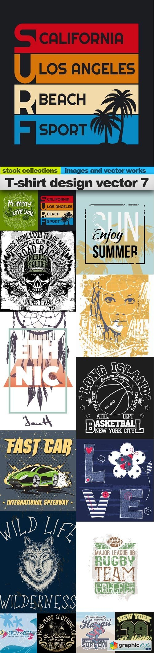 T-shirt design vector 7, 15 x EPS