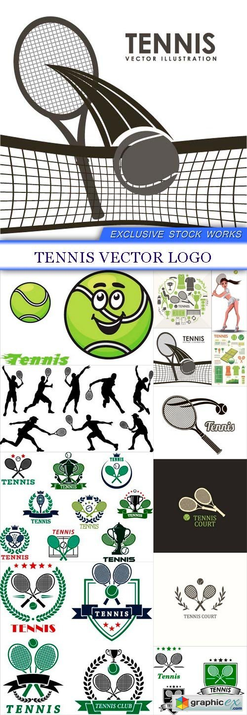 Tennis Vector logo 12X EPS