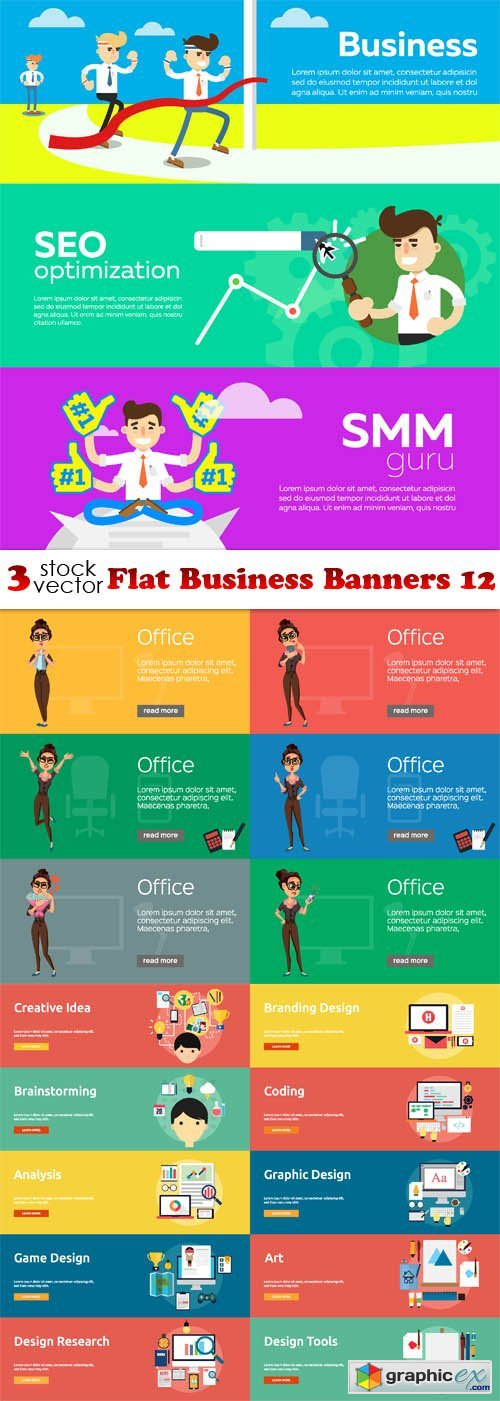 Flat Business Banners 12