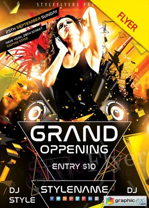 Grand Opening V11 PSD Flyer Template