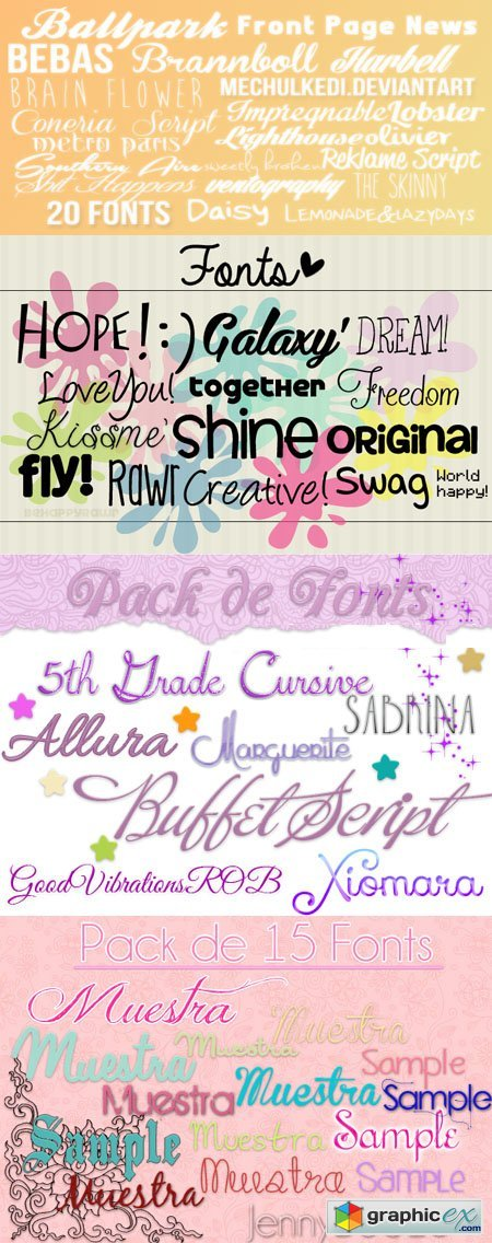57 Fonts Pack