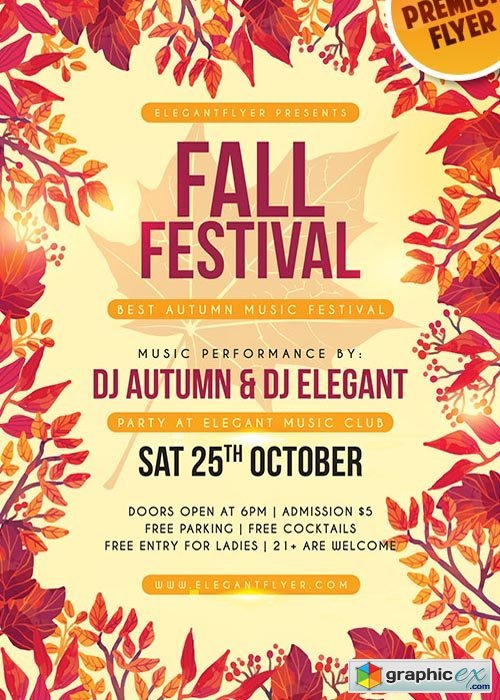 Fall Festival V7 Flyer Psd Template Facebook Cover Free