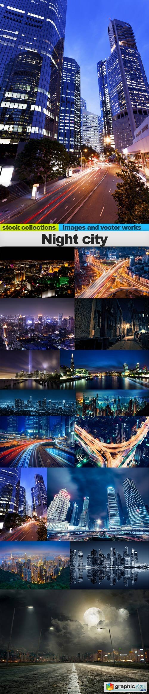 Night city, 15 x UHQ JPEG