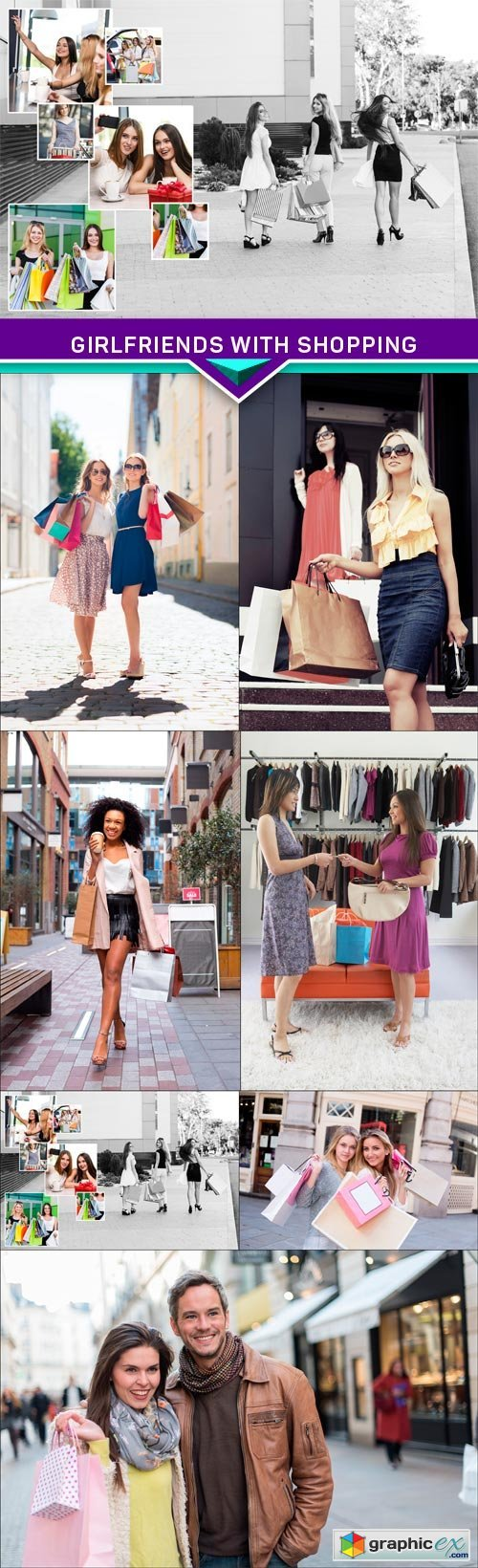 Girlfriends with shopping 7X JPEG