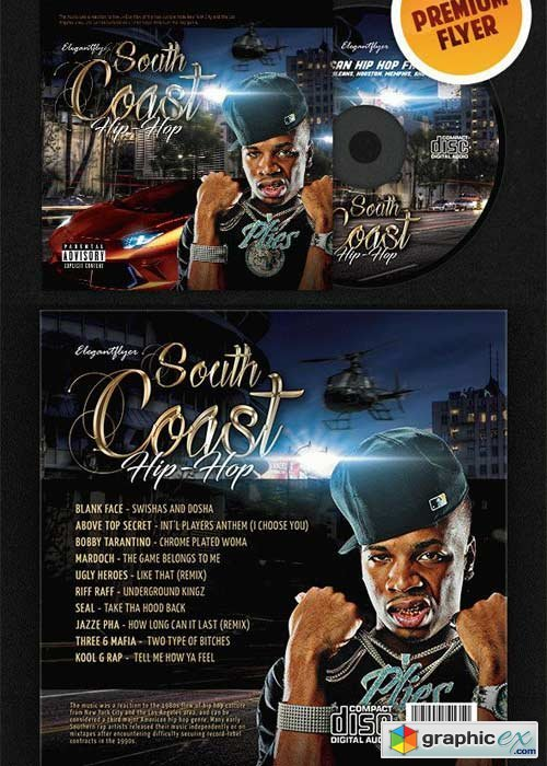 South Coast Hip-Hop CD Cover PSD Template