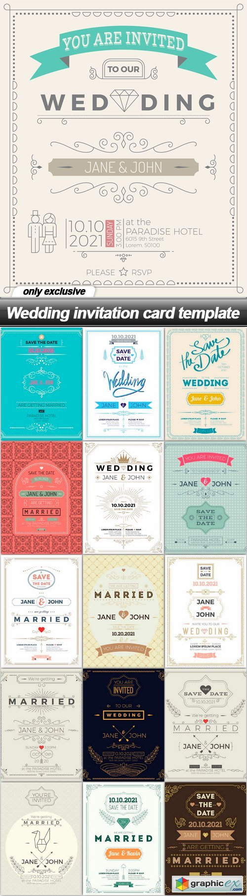Wedding invitation card template 16 eps free download vector wedding invitation card template 16 eps stopboris Image collections
