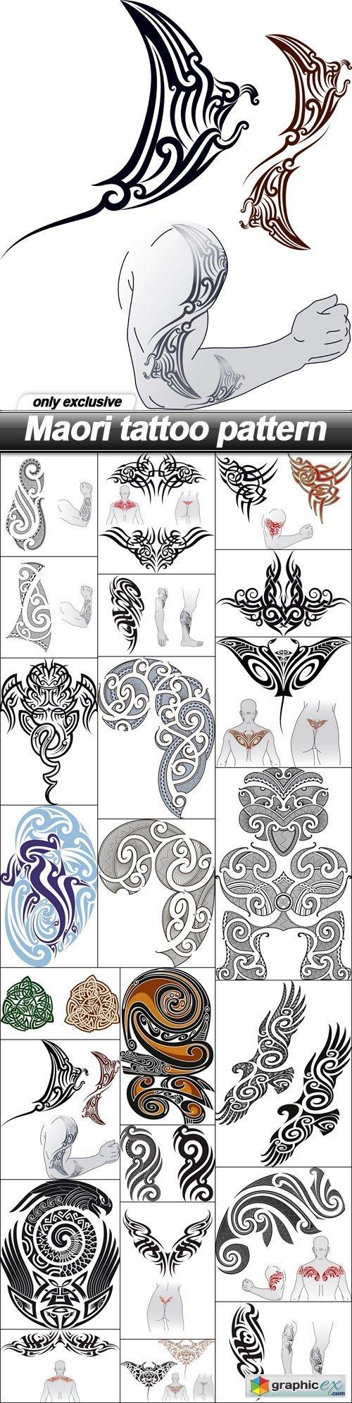 Maori tattoo pattern - 23 EPS
