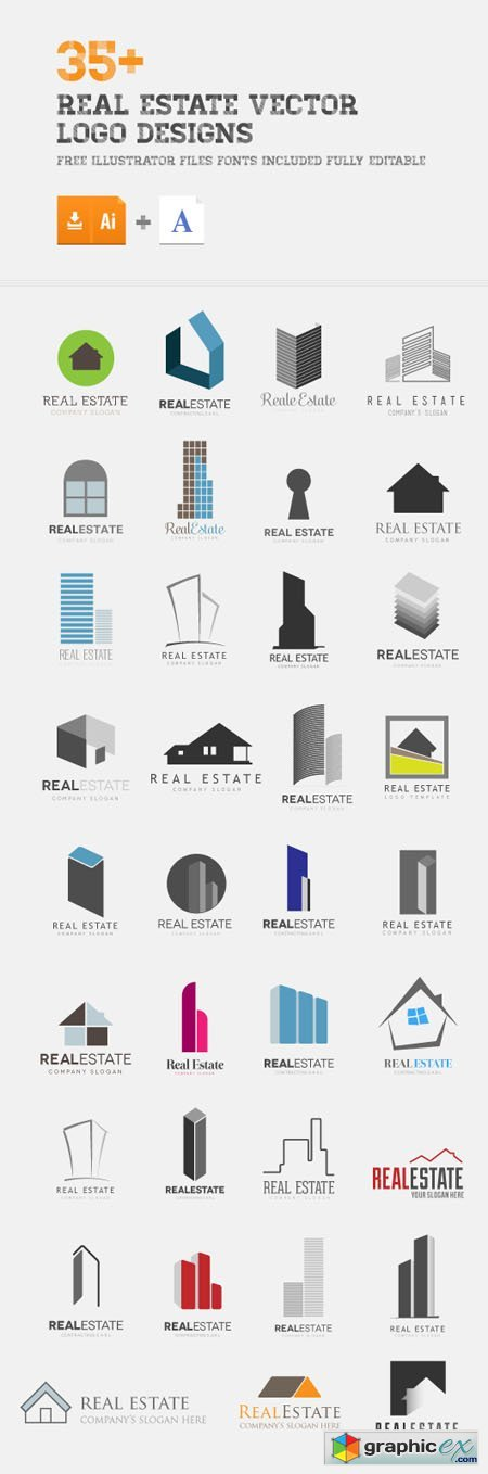35+ Real Estate Vector Logo Designs