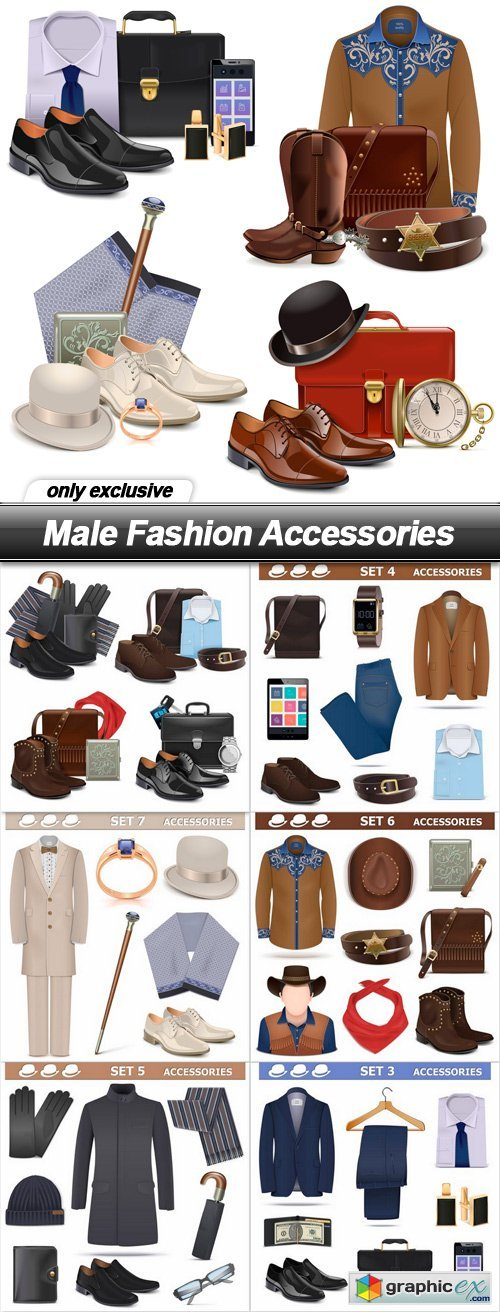 Male Fashion Accessories - 7 EPS