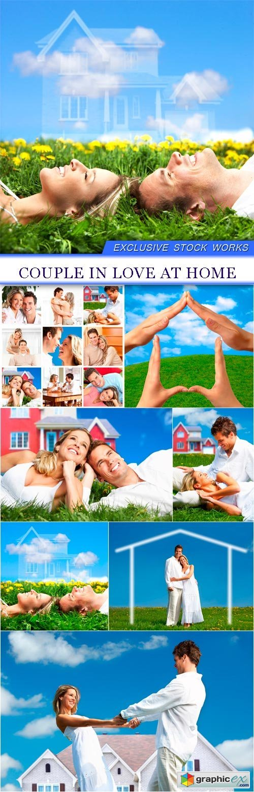 Couple in love at home 7X JPEG