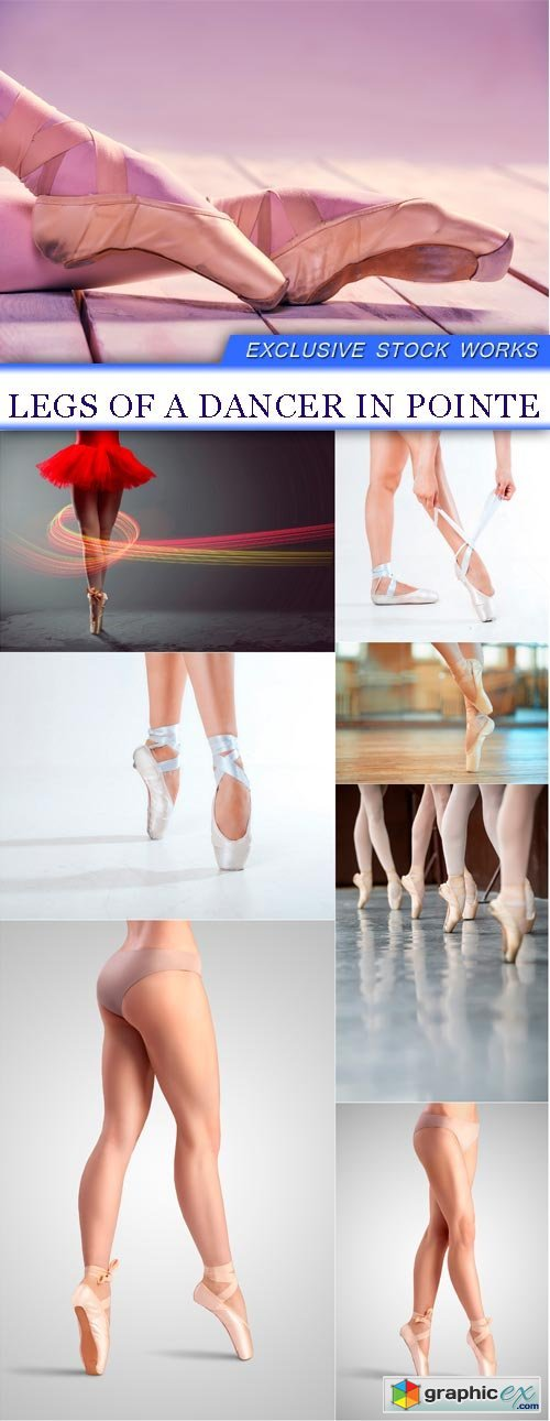 Legs of a dancer in pointe 8X JPEG