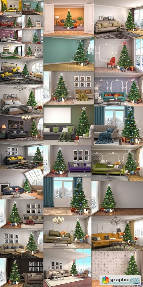 Homemade Christmas design apartments, rooms, houses