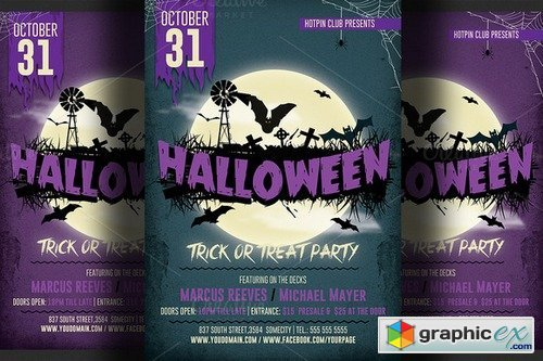 Halloween Party Flyer 4