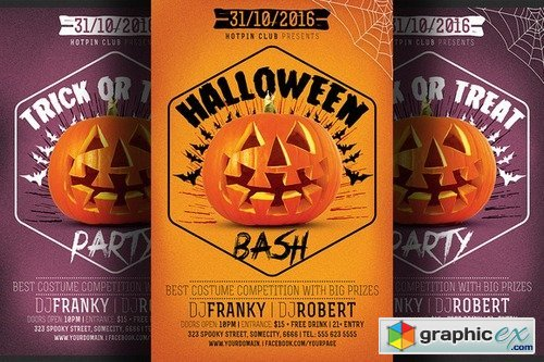 Halloween Bash Party Flyer 381369