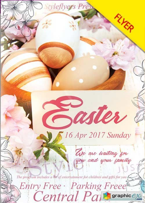 Easter PSD V4 Flyer Template