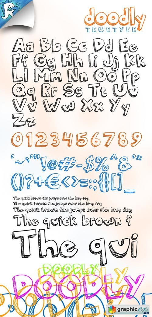 Doodly TrueType - Awesome doodle font