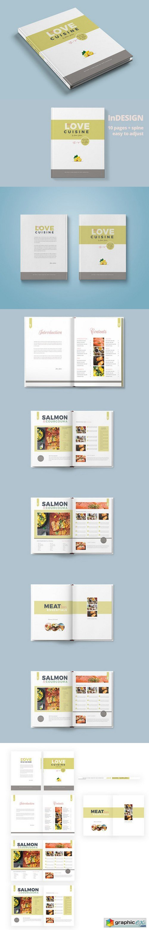 Recipe Book-Magazine Template