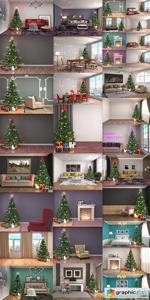 Homemade Christmas design apartments, rooms, houses 2