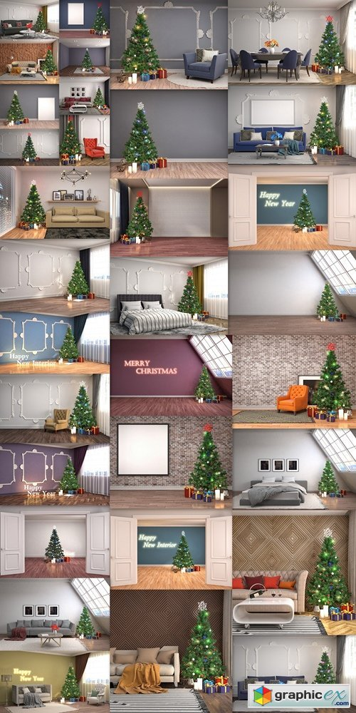 Homemade Christmas design apartments, rooms, houses 3