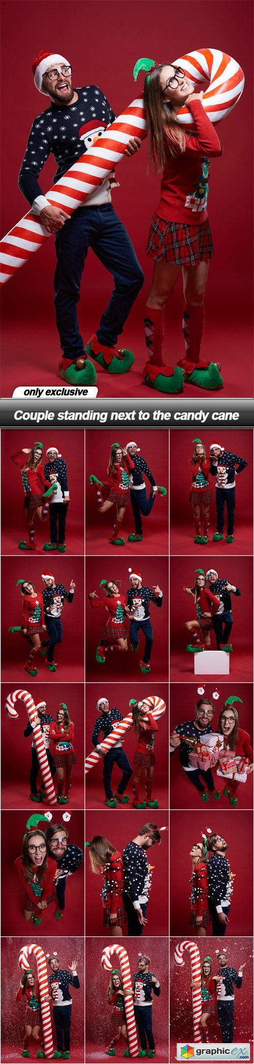 Couple standing next to the candy cane - 15 UHQ JPEG