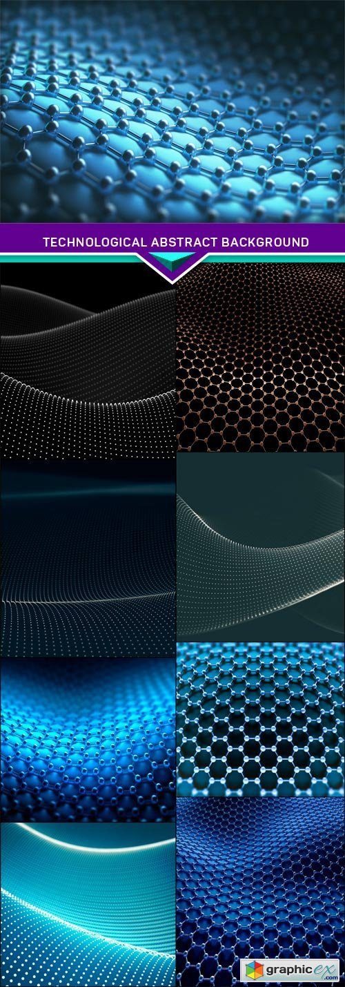 Technological abstract background 9X JPEG