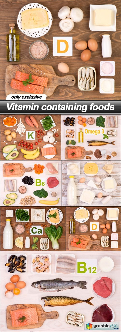 Vitamin containing foods - 7 UHQ JPEG