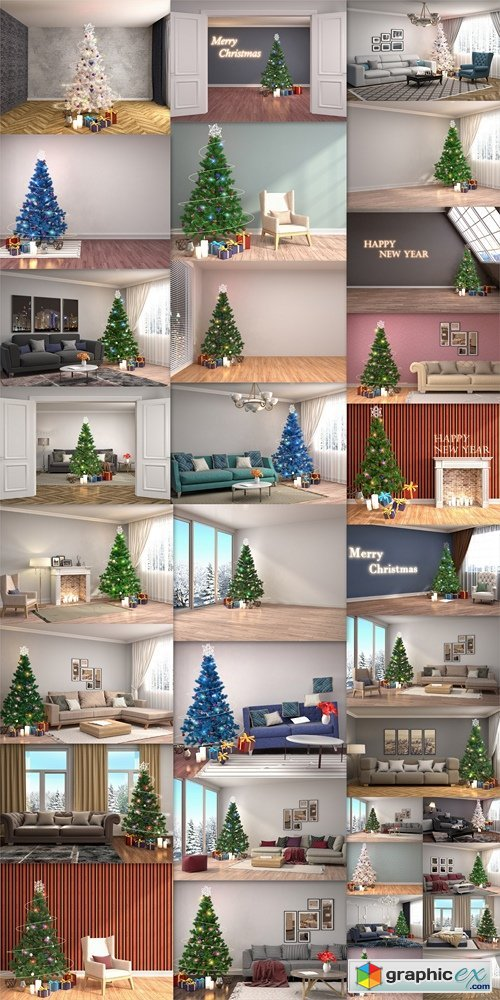 Homemade Christmas design apartments, rooms, houses 4