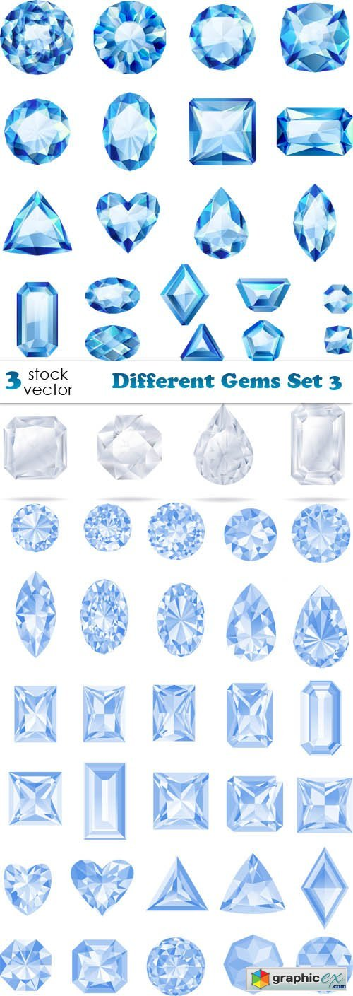 Different Gems Set 3
