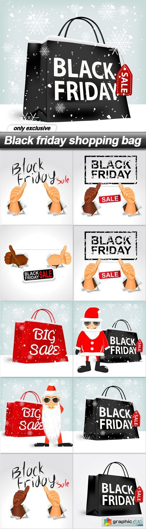 Black friday shopping bag - 10 EPS