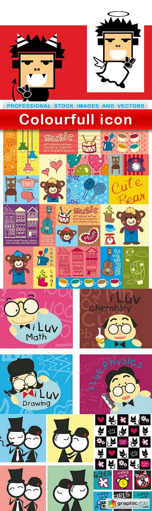 Colourfull icon - 6 EPS