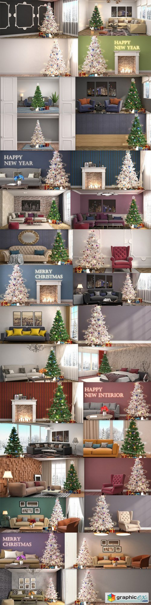 Homemade Christmas design apartments, rooms, houses 5