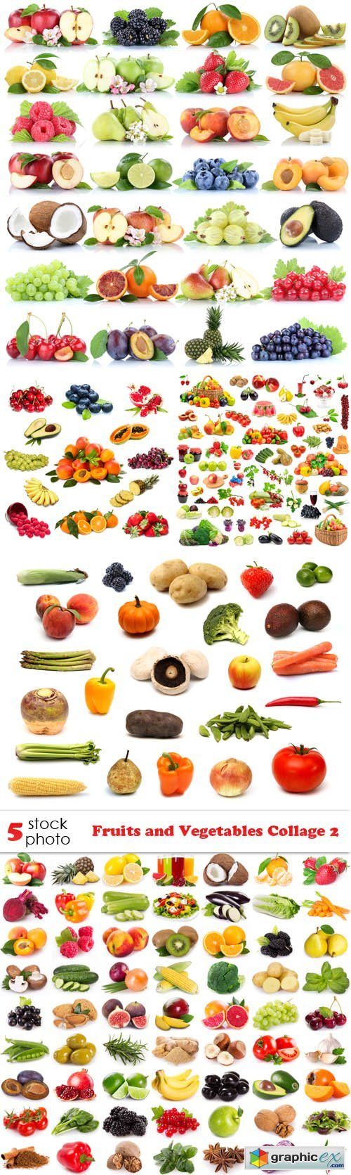 Fruits and Vegetables Collage 2